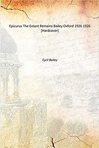 Epicurus, the extant remains