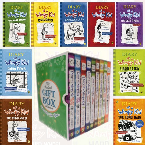 Diary of a Wimpy Kid Collection Jeff Kinney 9 Books Bundle Gift Wrapped Slipcase Specially For You