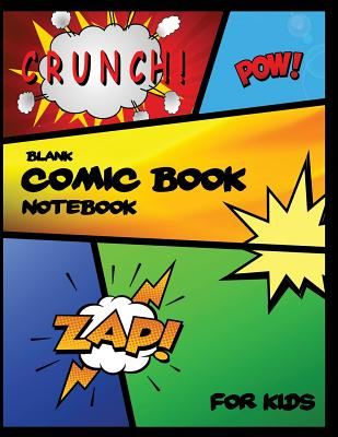 Blank Comic Book Notebook For Kids: Single-sided Pages