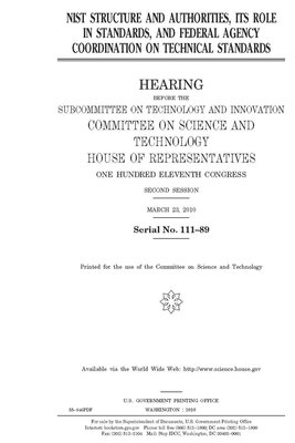 NIST structure and authorities, its role in standards, and federal agency coordination on technical standards