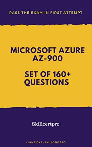 AZ-900 Microsoft Azure Fundamentals Practice Tests 2019: Microsoft Azure Fundamentals AZ-900 Dumps 2019. Over 165 Unique Practice Tests for your Exam preparation.