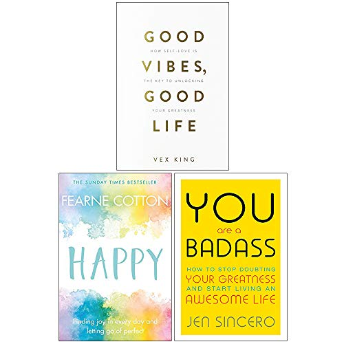 Good Vibes Good Life, Happy Fearne Cotton, You Are a Badass 3 Books Collection Set