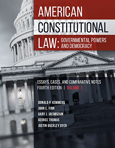 American Constitutional Law: Governmental Powers and Democracy (Higher Education Coursebook)
