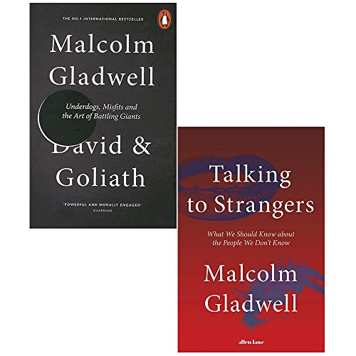 David and Goliath and Talking to Strangers [hardcover] 2 Books Collection Set by Malcolm Gladwell