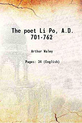 The poet Li Po, A.D. 701-762