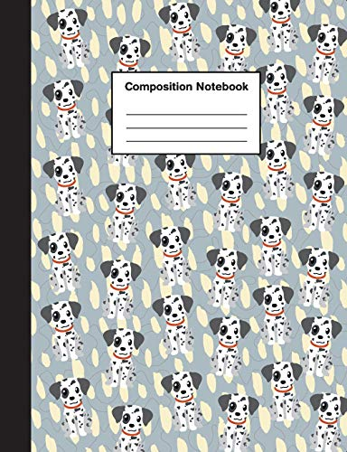 Composition Notebook: Wide Ruled Cute Dalmation Puppy Journal Notebook for Boys & Girls Teens, Kids Students for Home, School or College 110 Pages