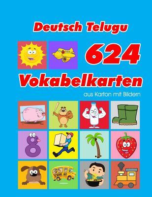 Deutsch Telugu 624 Vokabelkarten aus Karton mit Bildern: Wortschatz karten erweitern grundschule f�r a1 a2 b1 b2 c1 c2 und Kinder