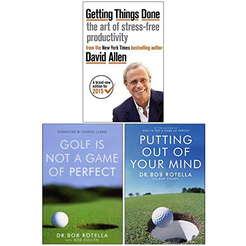 Getting Things Done, Golf is Not a Game of Perfect, Putting Out Of Your Mind 3 Books Collection Set