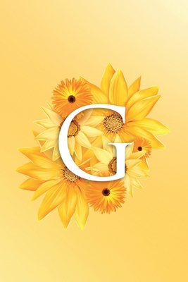 G: Modern, stylish, decorative and simple floral capital letter monogram ruled notebook, pretty, cute and suitable for all: men, women, girls & boys. For personal, office or learning. 100 lined pages 6 x 9 handy size.