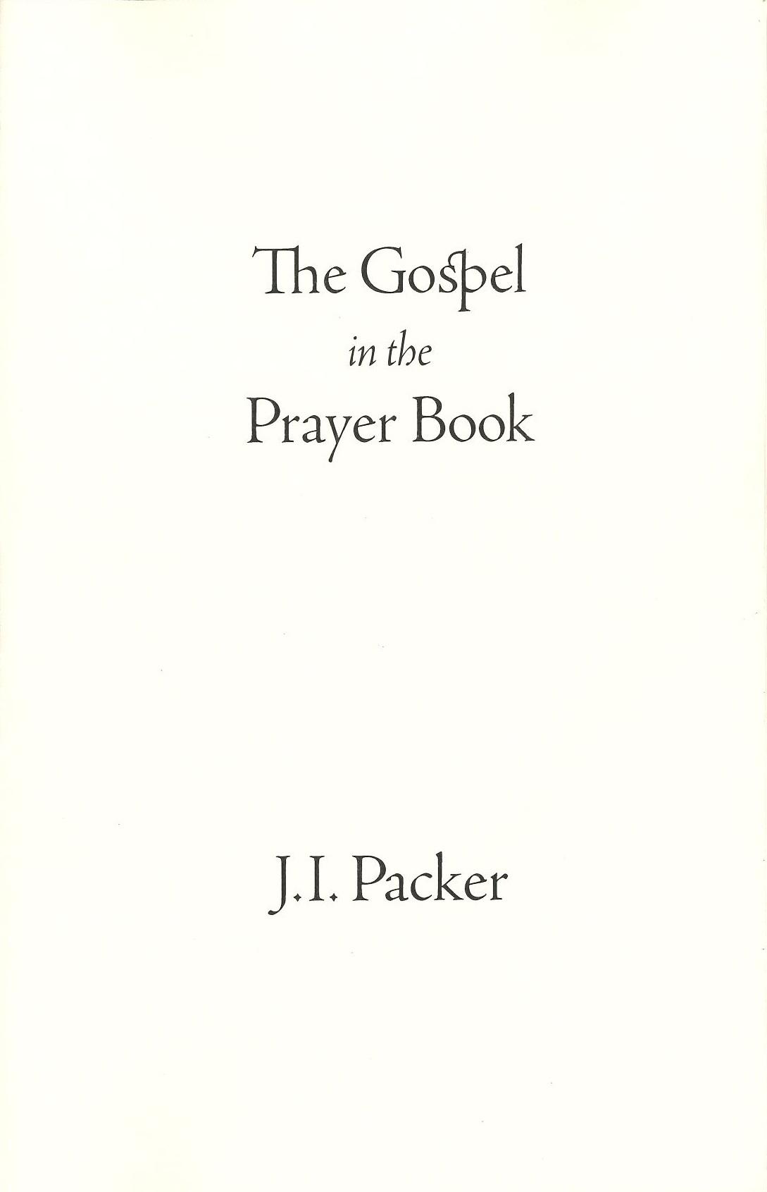 The Gospel in the Prayer Book