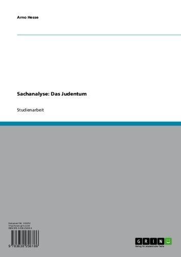 Sachanalyse: Das Judentum