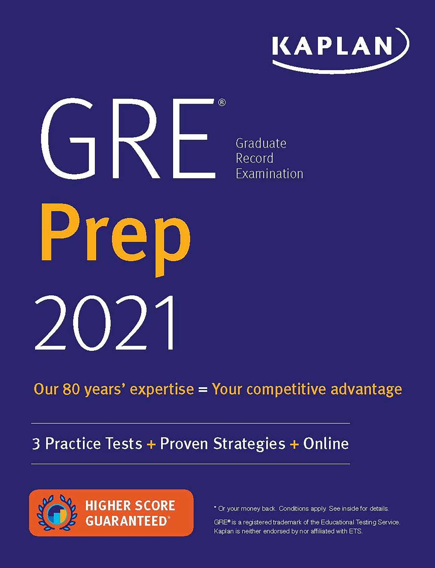 GRE Prep 2021: Practice Tests + Proven Strategies + Online