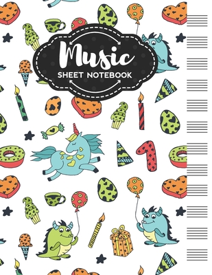 Music Sheet Notebook: Blank Staff Manuscript Paper with Cute Holidays Themed Cover Design