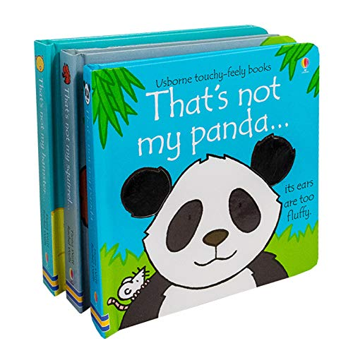 Usborne That's Not My Squirrel,Hamster & Panda 3 Touchy Feely Books For Childrens By Fiona Watt