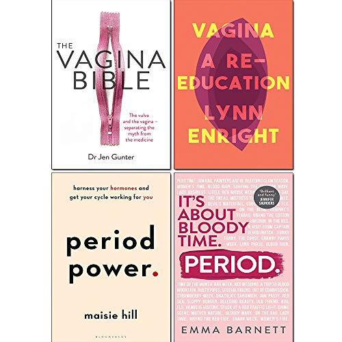 Period, Period Power, The Vagina Bible and Vagina A re-education 4 Books Collection Set