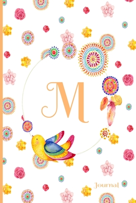 M Journal: Cute Initial Monogram Letter M Journal, Pretty Personalized Diary for Women, Teens and Girls
