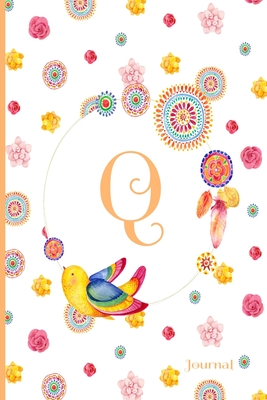 Q Journal: Cute Initial Monogram Letter Q Journal, Pretty Personalized Diary for Women, Teens and Girls