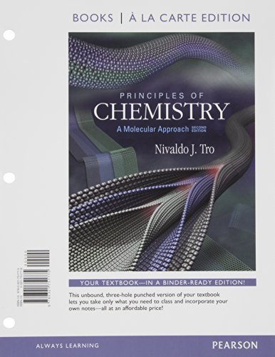 Principles of Chemistry: A Molecular Approach, Books a la Carte Plus MasteringChemistry with eText -- Access Card Package (2nd Edition) 2nd edition by Tro, Nivaldo J. (2011) Loose Leaf