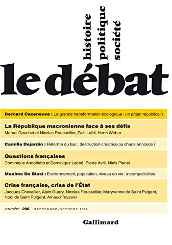 Le Débat N° 206 (Septembre - Octobre 2019) (REVUE LE DEBAT)