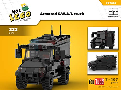 Armored S.W.A.T. truck (Instruction Only): MOC LEGO