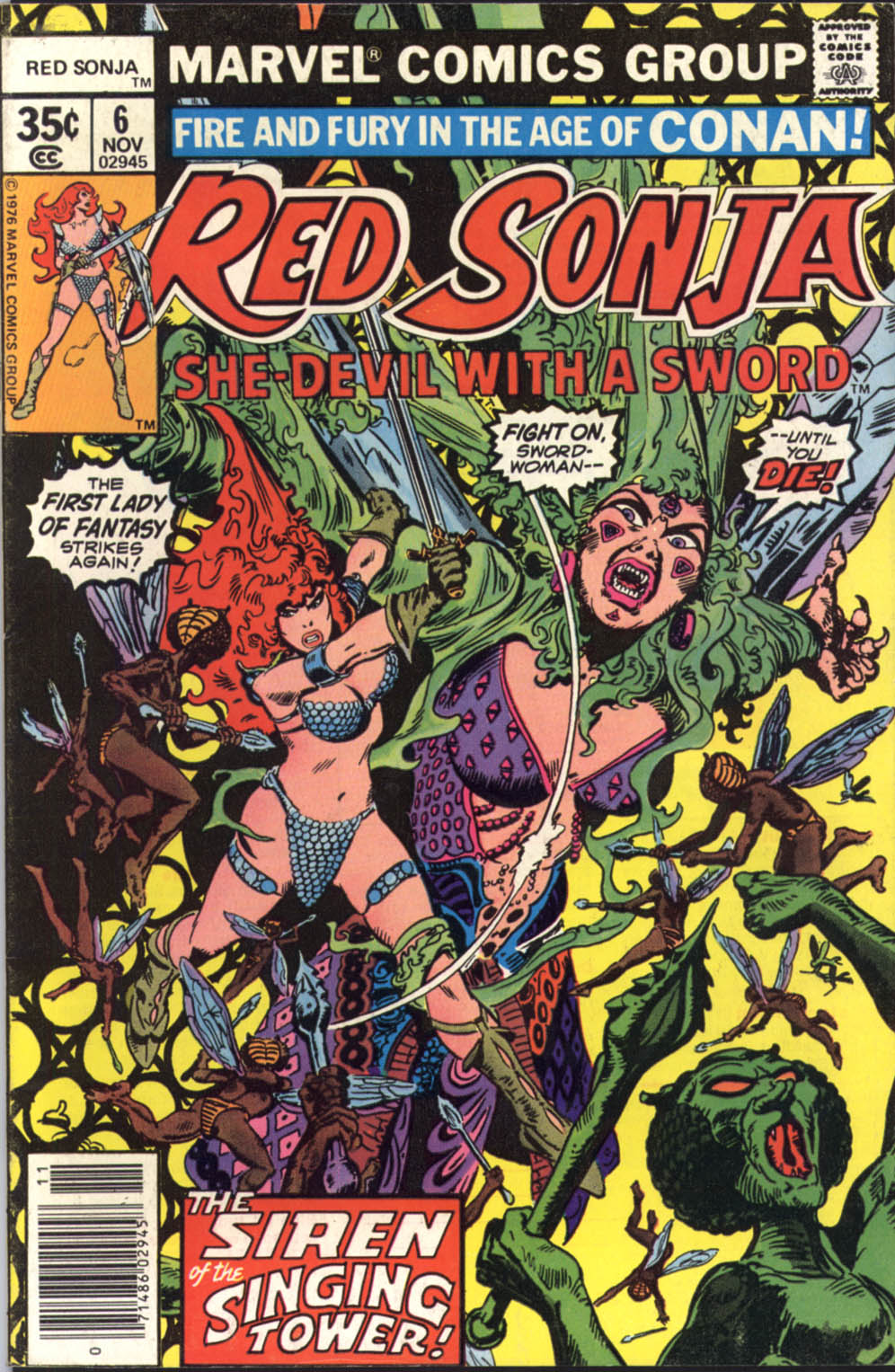 Red Sonja (1977) Issue 6 (Red Sonja (1977), #6)
