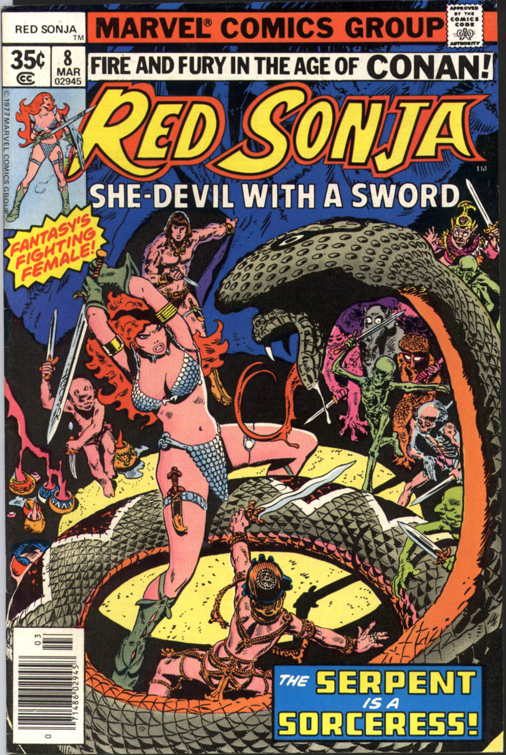 Red Sonja (1977) Issue 8 (Red Sonja (1977), #8)
