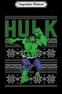 Composition Notebook: Marvel Hulk Retro Ugly Christmas Sweater Graphic Journal/Notebook Blank Lined Ruled 6x9 100 Pages