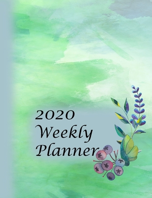 2020 Weekly Planner: Jan 1 thru Dec 31 2020: 2 day Weekly layout includes notes alerts daily and next week planning, Monthly calendar layout includes birthdays notes priorities goals - Watercolor