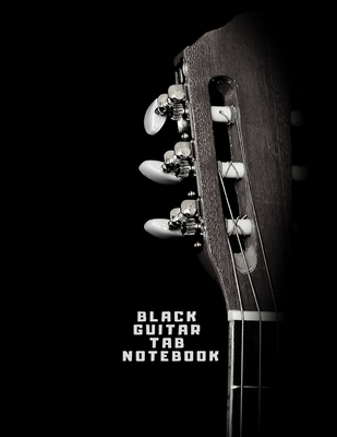 Black Guitar Tab Notebook: Guitar Tablature Book - Black Pages Music Journal for Guitar Music Notes