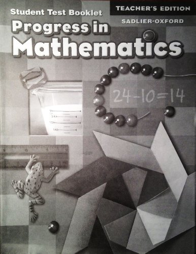 Progress in Mathematics: Teacher's Edition of Student Test Booklet (Grade 2): Answer Key for Test Booklet