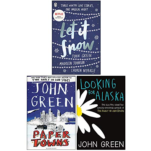 John Green Collection 3 Books Set (Let It Snow, Paper Towns, Looking For Alaska)