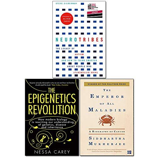 NeuroTribes, Emperor of All Maladies and Epigenetics Revolution 3 Books Collection Set
