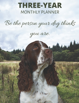 Three Year Monthly Planner Starting 2020 Agenda with Weekly Plan Space Best Gift For Dog Owner Funny Welsh Springer Spaniel Appointment Book for 2021 & 2022: Goal Planning Logbook 36 Month Calendar: 3 Years Monthly Personal Day For Tasks & Goals