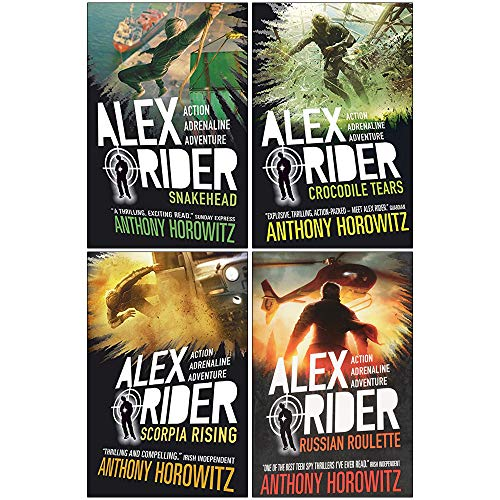 Snakehead / Crocodile Tears / Scorpia Rising / Russian Roulette (Alex Rider Series #7-10)