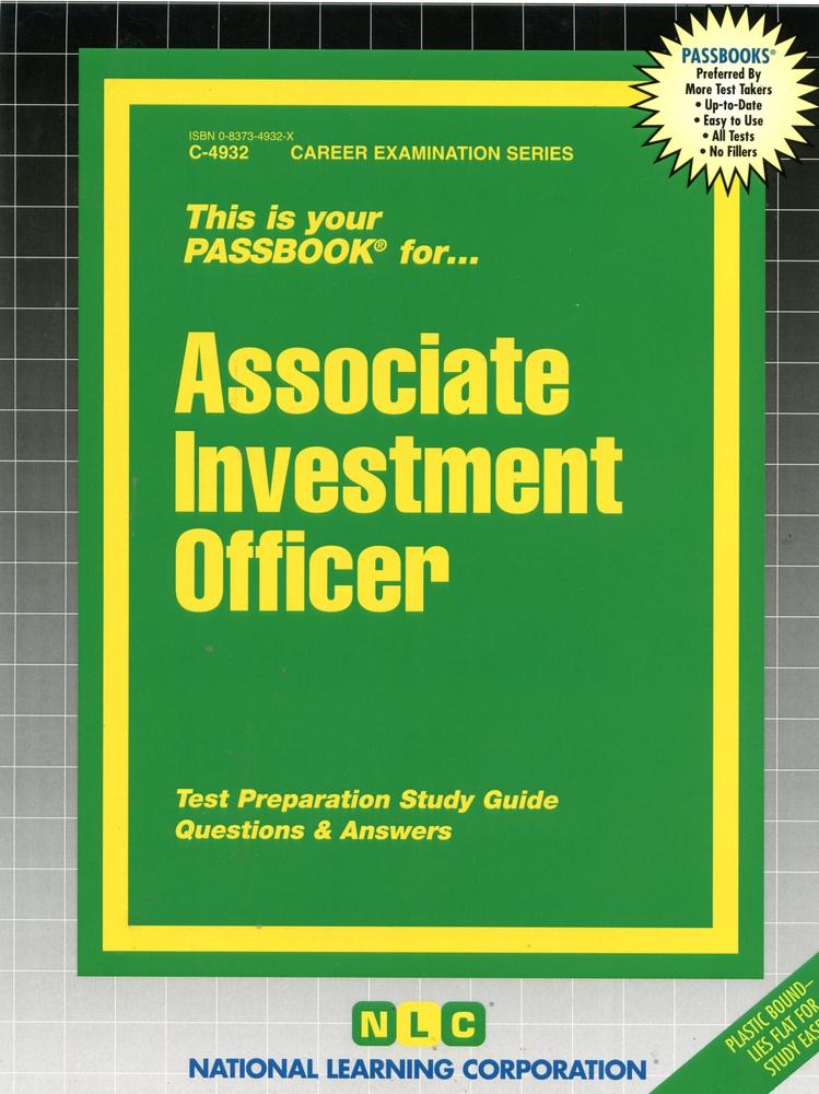 Associate Investment Officer: Passbooks Study Guide