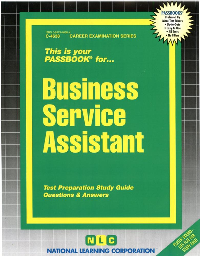 Business Service Assistant: Passbooks Study Guide