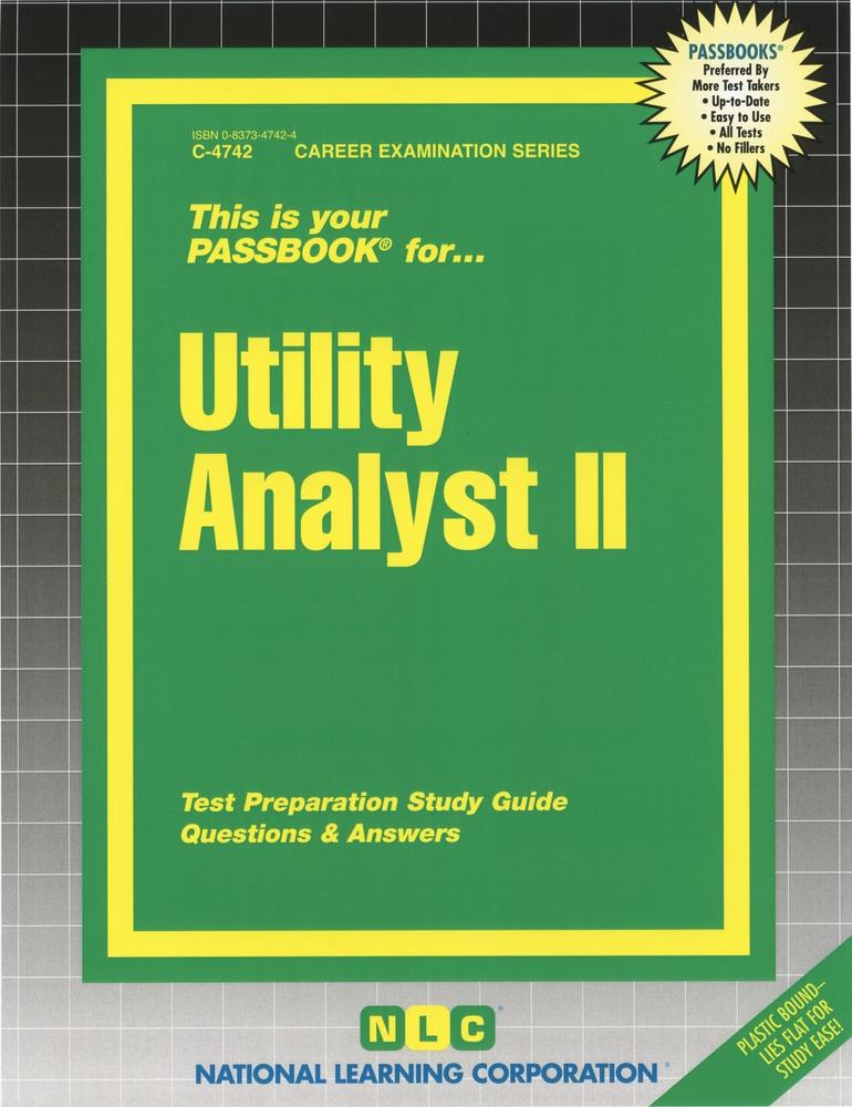 Utility Analyst II: Passbooks Study Guide