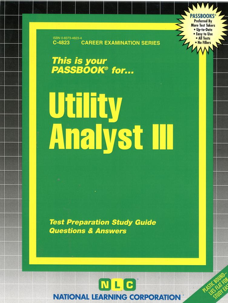 Utility Analyst III: Passbooks Study Guide
