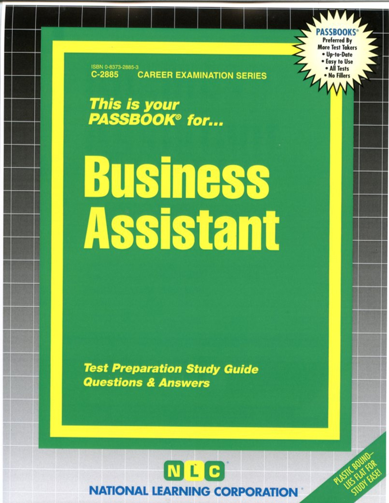 Business Assistant: Passbooks Study Guide