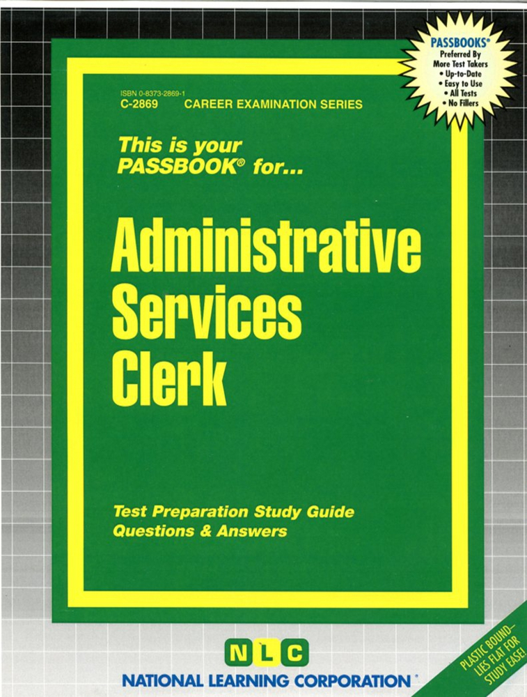 Administrative Services Clerk: Passbooks Study Guide