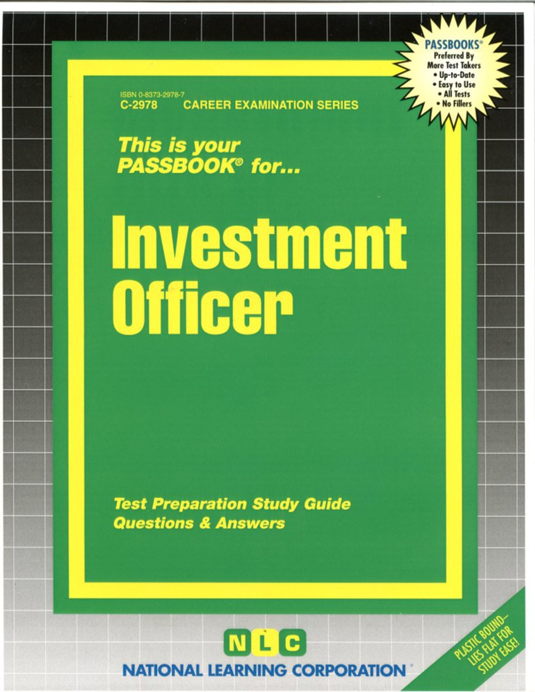 Investment Officer: Passbooks Study Guide