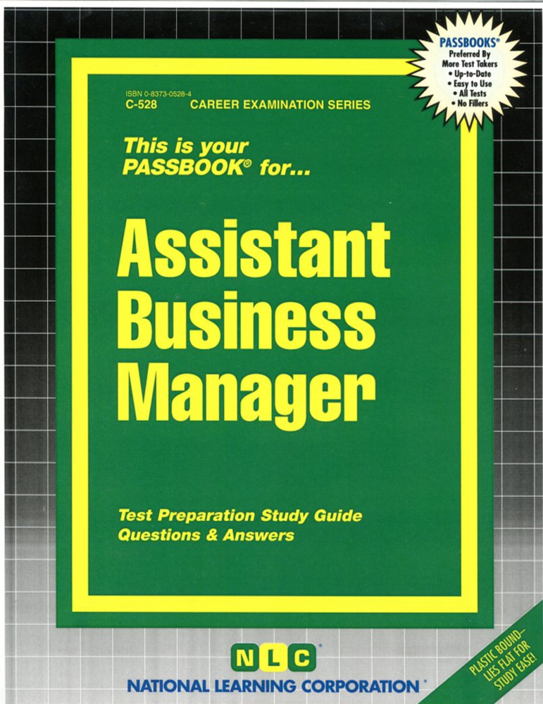 Assistant Business Manager: Passbooks Study Guide