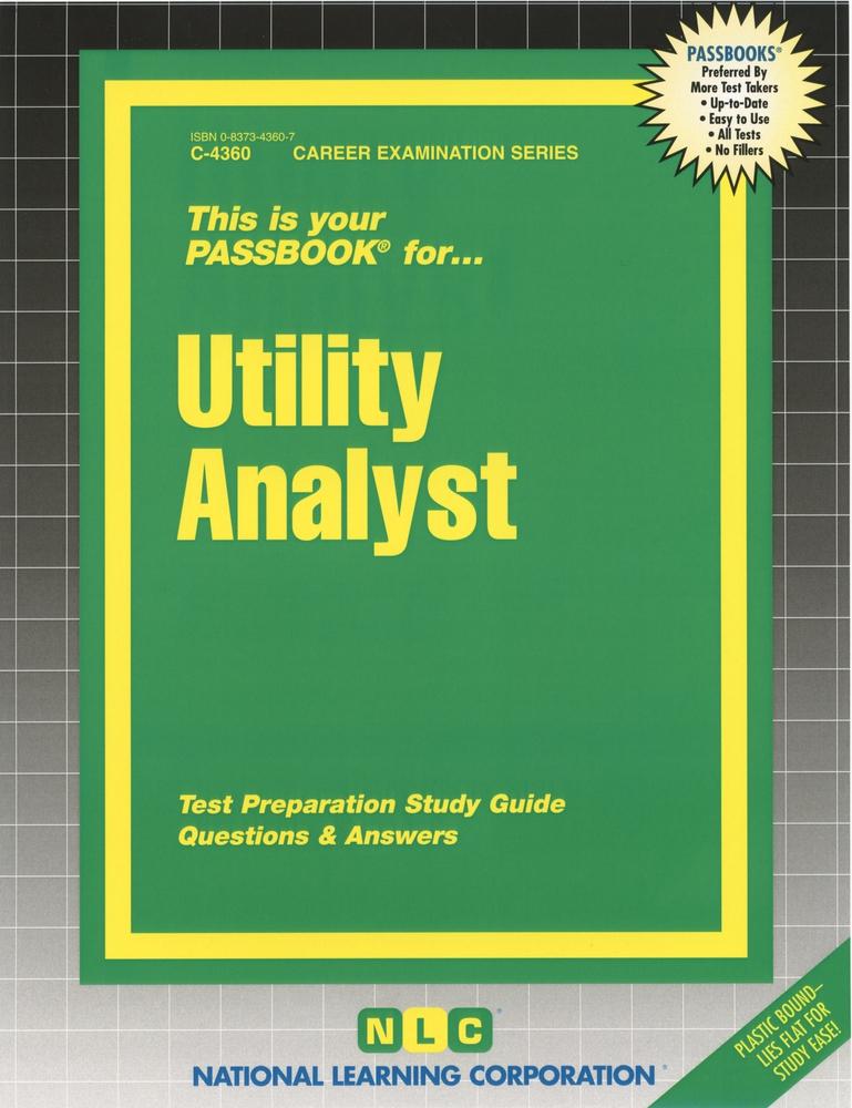 Utility Analyst: Passbooks Study Guide