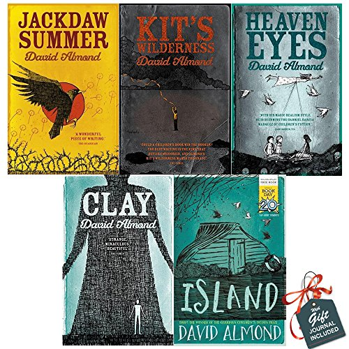 David Almond Collection 5 Books Bundle With Gift Journal (Jackdaw Summer, Kit's Wilderness, Heaven Eyes, Clay, Island: World Book Day 2017)