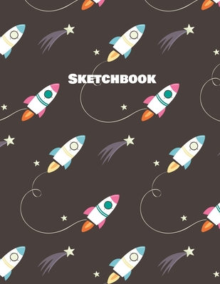 Sketchbook: Space Theme Drawing Notebook For Kids Boys and Girls Ages 3 - 8