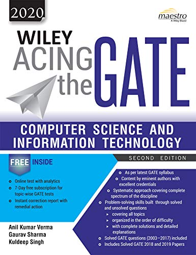 Wiley Acing the GATE: Computer Science and Information Technology, 2ed, 2020