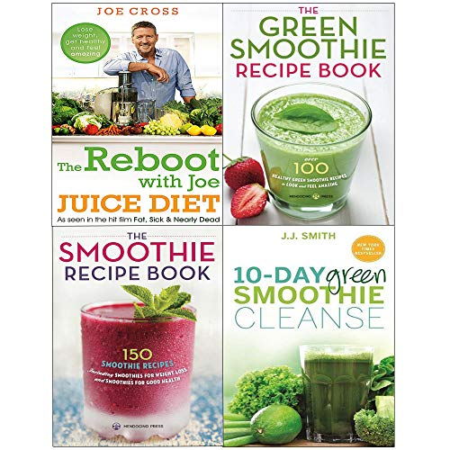 Reboot with joe juice diet, 10-day green smoothie cleanse, green smoothie recipe book 4 books collection set