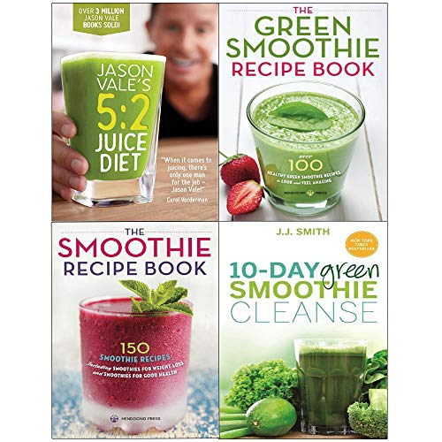Jason vale's 5:2 juice diet[hardcover], 10-day green smoothie cleanse and recipe book 4 books collection set
