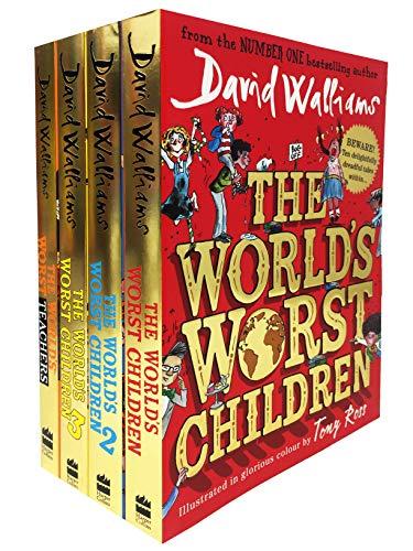 David Walliams Worlds Worst Children 4 Books Collection Set (The World's Worst Children, The World's Worst Children 2, The World's Worst Children 3, The World's Worst Teachers)