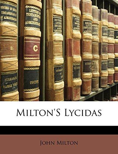 Milton'S Lycidas